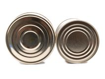Metal can seven Stock Images