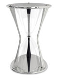 Empty metalic hourglass Stock Photo