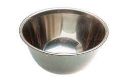 Empty metall bowl Royalty Free Stock Images