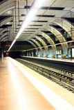 Empty metro (subway). High-tech style Stock Image