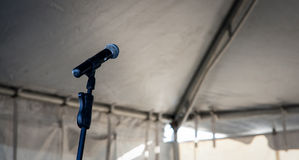 Empty microphone Royalty Free Stock Images