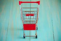 Empty mini shopping cart Royalty Free Stock Image