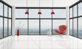 Empty minimalist living room royalty free illustration
