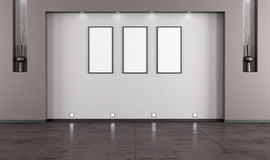 Empty minimalist living room vector illustration