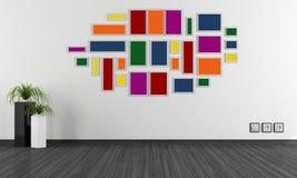 Empty minimalist room Stock Images