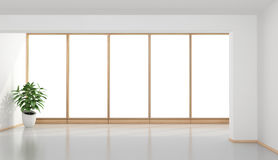 Empty minimalist room Stock Photos