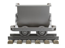 Empty mining cart Royalty Free Stock Photography
