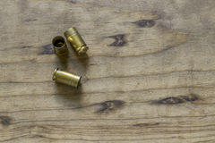 Empty 9MM Pistol Shell Casings Royalty Free Stock Photos