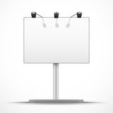 Empty mockup billboard with spotlights and day Royalty Free Stock Photos