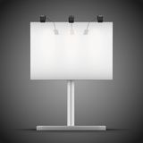 Empty mockup billboard with spotlights and Stock Photo