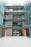 Empty, modern atrium of a large corporate business Royalty Free Stock Photos