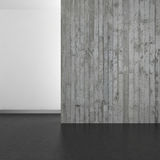 Empty modern bathroom with concrete wall and dark floor Royalty Free Stock Photo