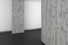Empty modern bathroom with concrete wall and dark floor. Empty modern bathroom with concrete wall and dark resin floor Royalty Free Stock Photography