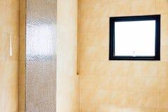 Empty modern bathroom. Interior empty modern bathroom not sanitary ware Stock Image