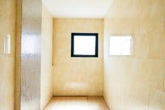 Empty modern bathroom. Interior empty modern bathroom not sanitary ware Royalty Free Stock Photo