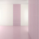Empty modern bathroom with purple tiles. 3d render Royalty Free Stock Image