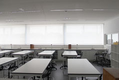 Empty modern school class room Royalty Free Stock Images