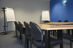Empty modern classroom. Or meeting room with flip boards Royalty Free Stock Image