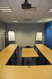 Empty modern classroom. Or meeting room with flip boards Stock Photography