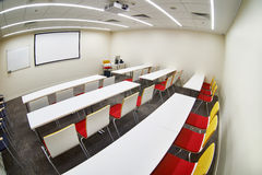 Empty modern classroom Stock Images
