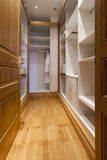 Empty modern closet room interior Royalty Free Stock Photos