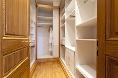 Empty modern closet room interior Royalty Free Stock Images