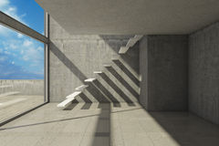 Empty modern hall. With stairs Royalty Free Stock Images