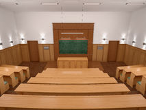 An empty modern lecture style university classroom. Royalty Free Stock Image