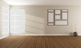 Empty modern  living room Royalty Free Stock Image