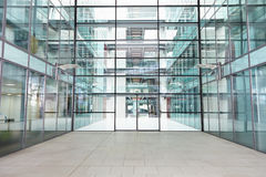 Empty, modern lobby of a large corporate business Royalty Free Stock Images