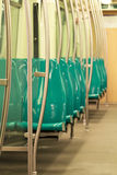 Empty modern metro train  2 Stock Image