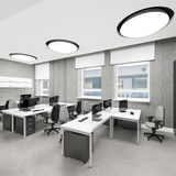 Empty modern office interior work place Stock Images