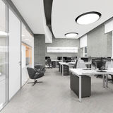 Empty modern office interior work place Royalty Free Stock Photos