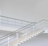 Empty modern office stairs Stock Photos
