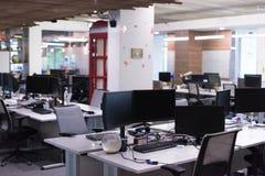 Empty Modern Office. Empty Modern Open Plan Office royalty free stock image