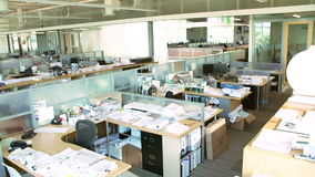 Empty Modern Open Plan Office stock video