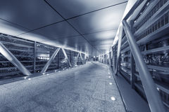 Empty modern pedestrian walkway Royalty Free Stock Photography