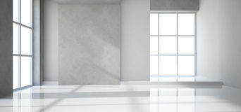 Empty modern room stock illustration
