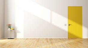 Empty modern room with door Stock Images