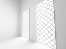 Empty Modern Room Interior With Light. White Architecture Backgr Royalty Free Stock Photography