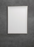 Empty modern style frame on composition wall Royalty Free Stock Photo