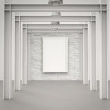 Empty modern style frame on composition wall. As concept Royalty Free Stock Images