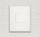Empty modern style frame on composition wall Stock Images