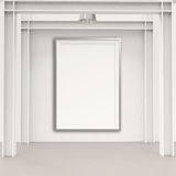 Empty modern style frame on composition wall. As concept Stock Photos