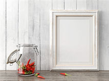 Empty modern style frame, 3D render Royalty Free Stock Photo