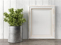 Empty modern style frame, 3D render Stock Images