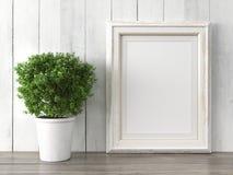 Empty modern style frame, 3D render Stock Photo