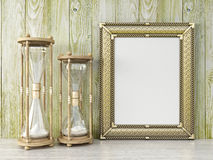 Empty modern style frame, 3D render Royalty Free Stock Image