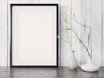 Empty modern style frame, 3D render Royalty Free Stock Photography