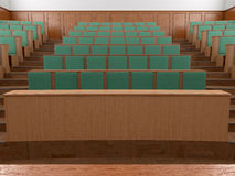 Empty modern style of lecturing of the University Stock Photo